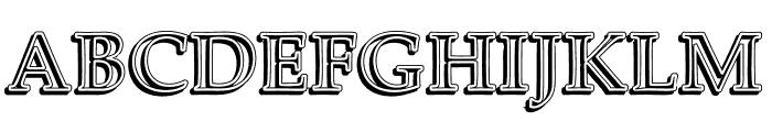 UKIJ Kawak 3D Bold Font UPPERCASE