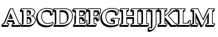 UKIJ Kawak 3D Font UPPERCASE