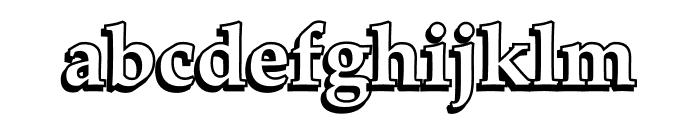 UKIJ Kawak 3D Font LOWERCASE