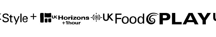 UKtv Family Logos Font LOWERCASE