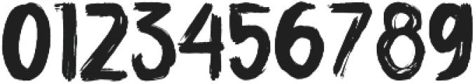 ULTRA BRUSH Regular otf (900) Font OTHER CHARS