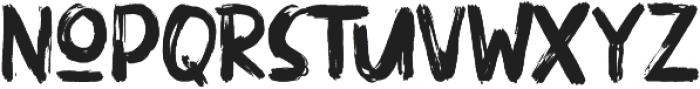 ULTRA BRUSH Regular otf (900) Font LOWERCASE