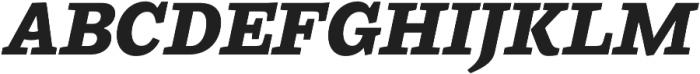 Ulises Extra Bold Italic otf (700) Font UPPERCASE