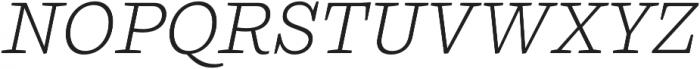 Ulises Light Italic otf (300) Font UPPERCASE