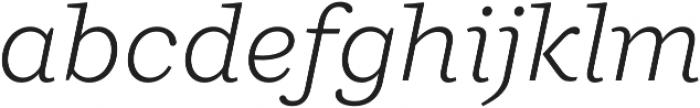 Ulises Light Italic otf (300) Font LOWERCASE
