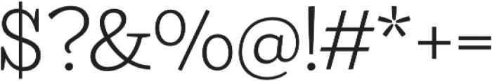 Ulises Light otf (300) Font OTHER CHARS