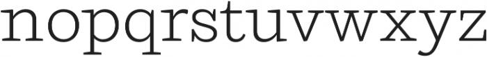 Ulises Light otf (300) Font LOWERCASE