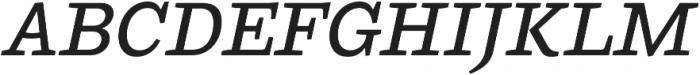 Ulises Medium Italic otf (500) Font UPPERCASE