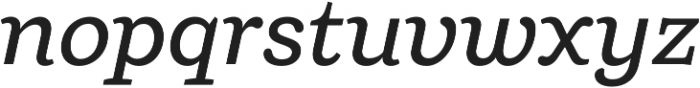 Ulises Medium Italic otf (500) Font LOWERCASE