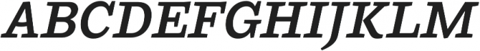 Ulises Semi Bold Italic otf (600) Font UPPERCASE