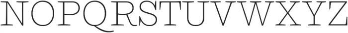 Ulises Thin otf (100) Font UPPERCASE