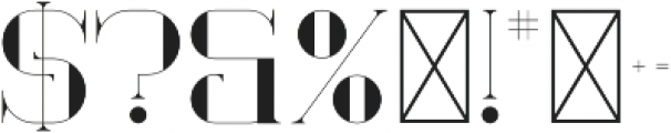 Ultimus Regular otf (400) Font OTHER CHARS