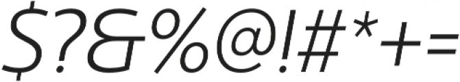 Ultine Cond Book Italic otf (400) Font OTHER CHARS