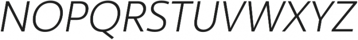 Ultine Cond Book Italic otf (400) Font UPPERCASE