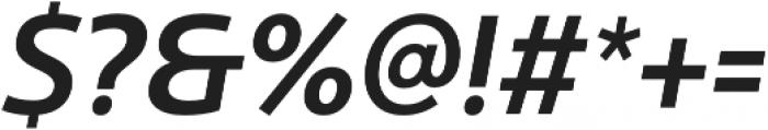 Ultine Cond Demi Italic otf (400) Font OTHER CHARS