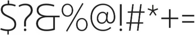 Ultine Cond Light otf (300) Font OTHER CHARS