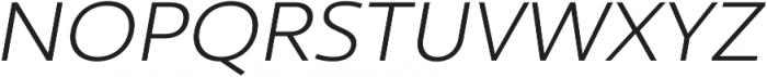 Ultine Ext Book Italic otf (400) Font UPPERCASE