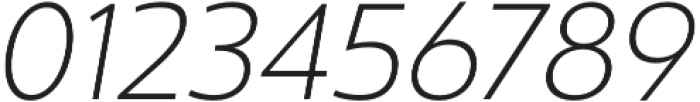 Ultine Ext Light Italic otf (300) Font OTHER CHARS