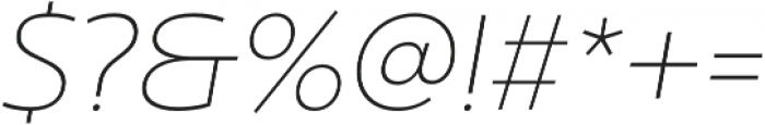 Ultine Ext Thin Italic otf (100) Font OTHER CHARS