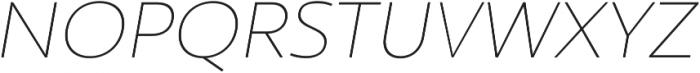 Ultine Ext Thin Italic otf (100) Font UPPERCASE