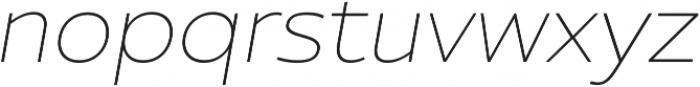 Ultine Ext Thin Italic otf (100) Font LOWERCASE