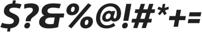 Ultine Norm Bold Italic otf (700) Font OTHER CHARS