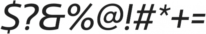 Ultine Norm Medium Italic otf (500) Font OTHER CHARS