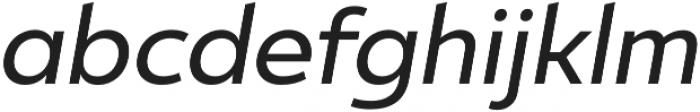 Ultine Norm Medium Italic otf (500) Font LOWERCASE
