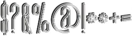 Ultra Bold 3D otf (700) Font OTHER CHARS