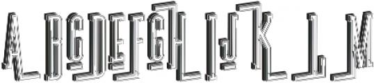 Ultra Bold 3D otf (700) Font UPPERCASE