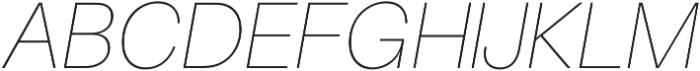 UltraLight Italic ttf (300) Font UPPERCASE