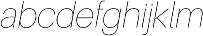 UltraLight Italic ttf (300) Font LOWERCASE
