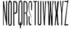 Ultra Condensed Lettered Font UPPERCASE