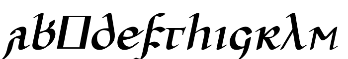 Ulfilas-FettKursiv Font LOWERCASE