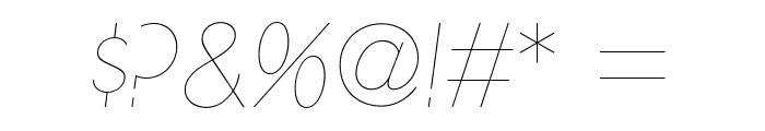 UltimaPDab-HairlineItalic Font OTHER CHARS