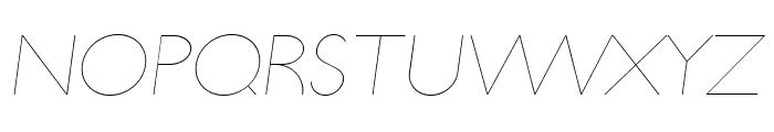 UltimaPDab-HairlineItalic Font UPPERCASE