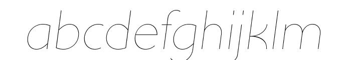 UltimaPDab-HairlineItalic Font LOWERCASE