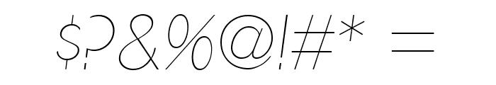 UltimaPDad-UltraLightItalic Font OTHER CHARS