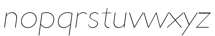 UltimaPDad-UltraLightItalic Font LOWERCASE