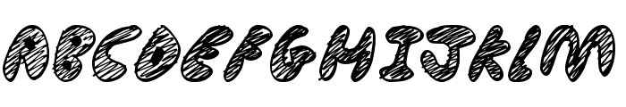 Ultimate Chaos Font UPPERCASE
