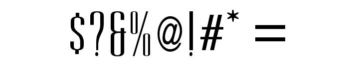 UltraCondensedSansSerif Font OTHER CHARS
