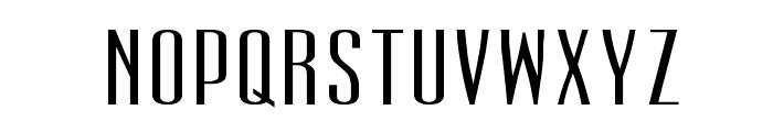 UltraCondensedSansSerif Font LOWERCASE