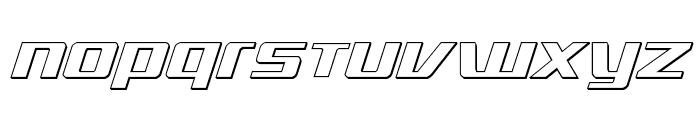 Ultramarines 3D Italic Font UPPERCASE