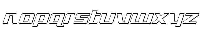 Ultramarines 3D Italic Font LOWERCASE