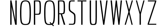 Ultrathins Font UPPERCASE
