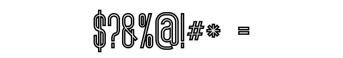 ultimatum bold line Font OTHER CHARS