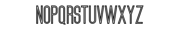 ultimatum bold line Font UPPERCASE