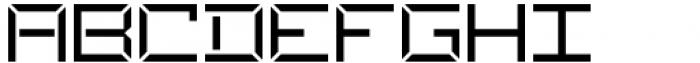 Ulga Grid Regular Font UPPERCASE
