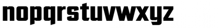 Ultimatum Heavy Font LOWERCASE