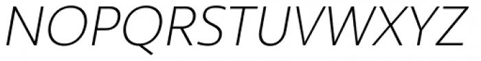 Ultine Cond Light Italic Font UPPERCASE